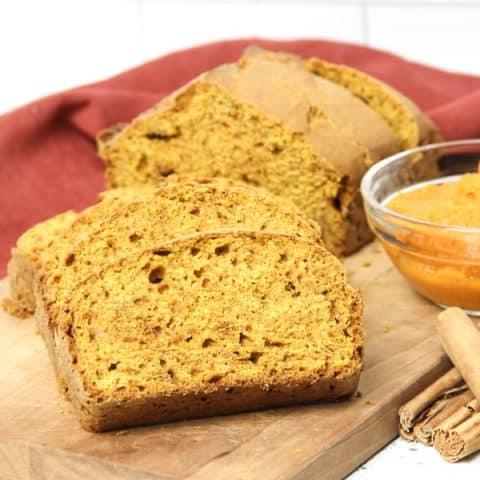 Pumpkin Bread on cutting board