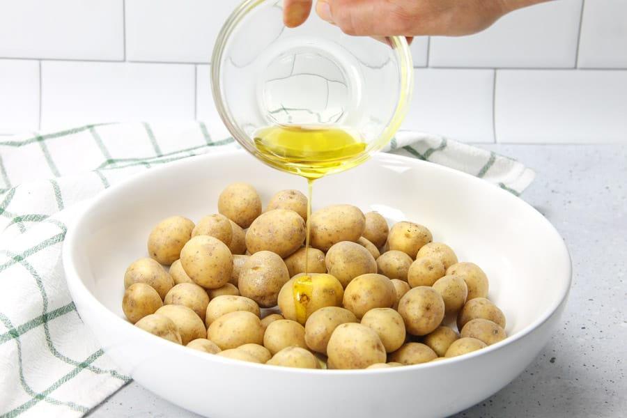 Roasted Rosemary Potatoes with olive oil