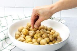 Roasted Rosemary Potatoes with rosemary