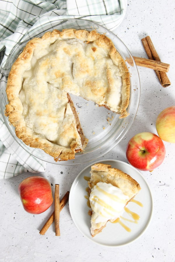 Simple Apple Pie in baking dish