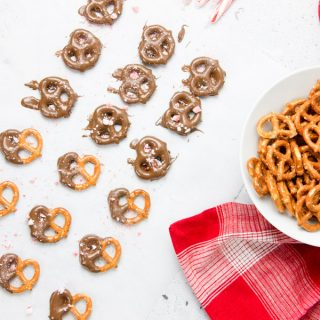 Pretzels laid out on parchment paper