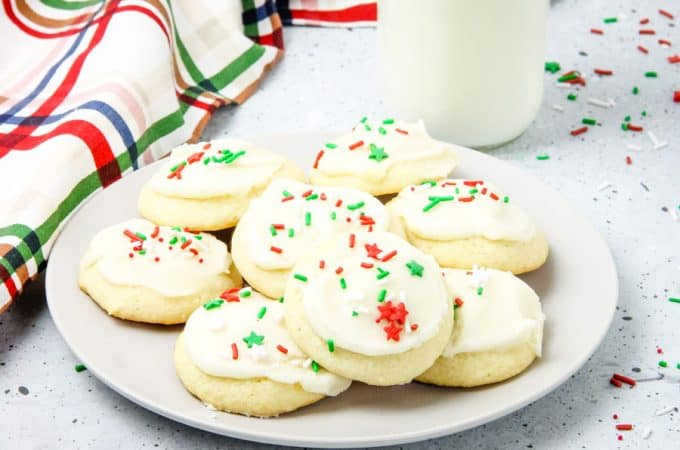Decorated cookies on a plate