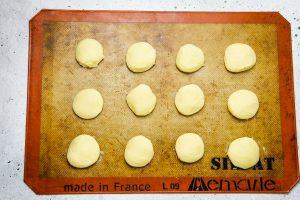 Cookies on pan uncooked