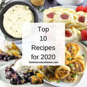 Square graphic Top 10 Recipes for 2020