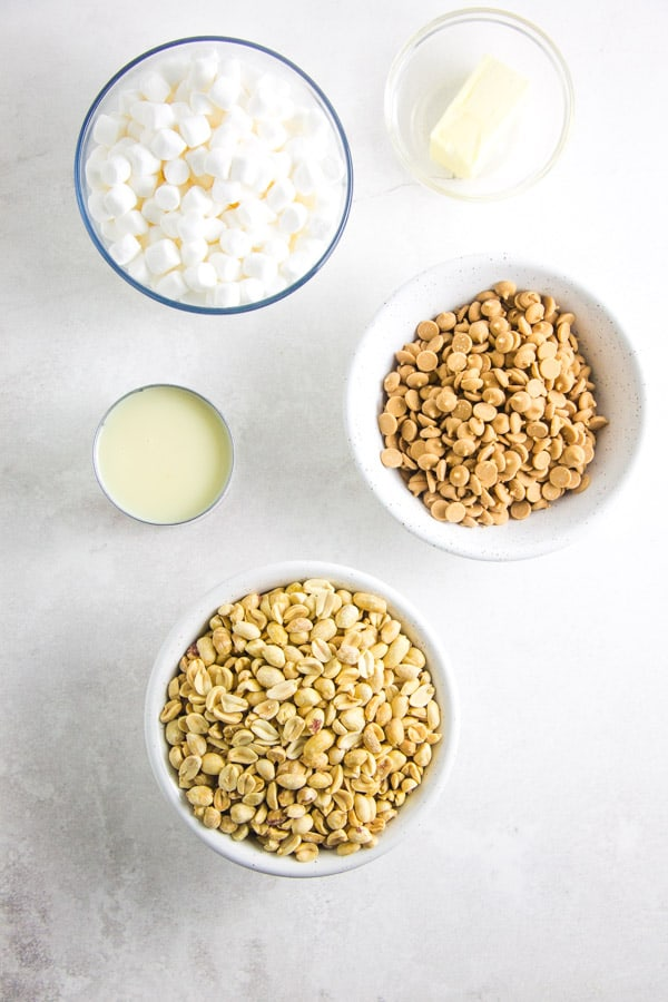 Salted Nut Roll Bars ingredients