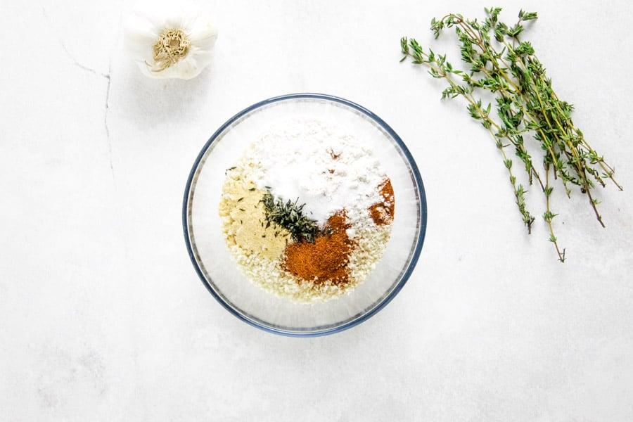 dry ingredients in bowl.