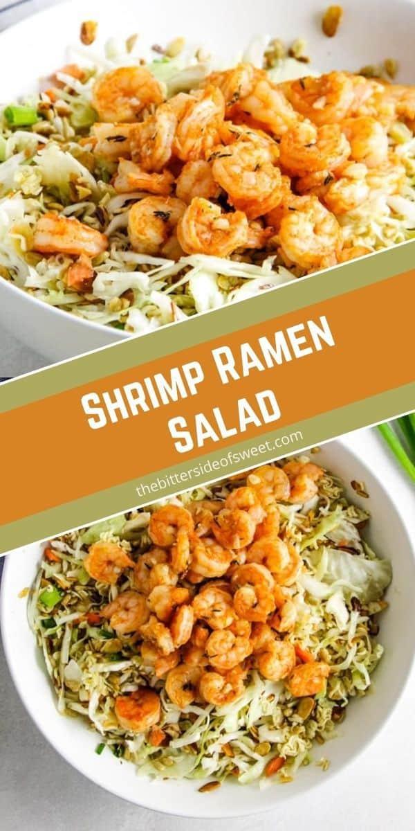 Shrimp Ramen Salad in bowls.
