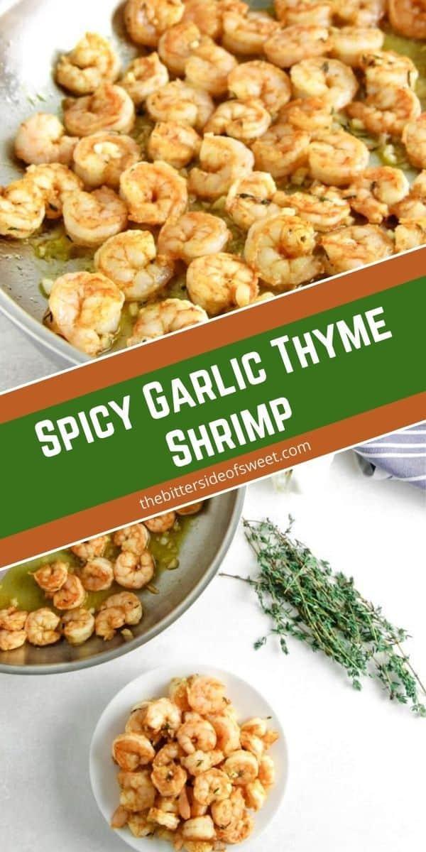 Spicy Garlic Thyme Shrimp