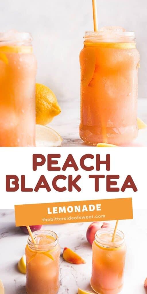 Peach Black Tea Lemonade collage.