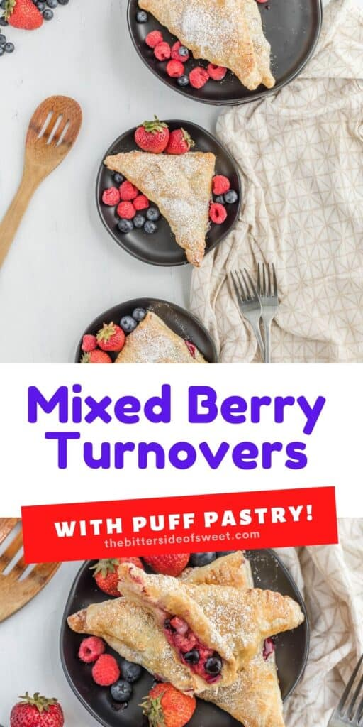 Mixed Berry Turnovers on plates