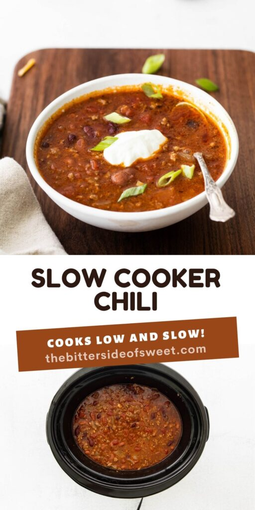 Slow Cooker Chili collage.